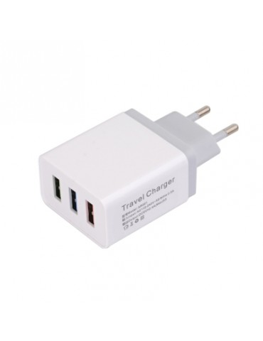 5V 2.4A 3 USB Wall Charger Travel Adapter Charging EU Plug