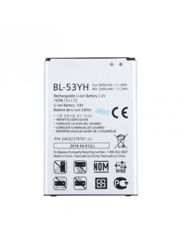 BL - 53YH 3000mAh Replacement Li-ion Battery for LG G3 F400 / F460 / D858 / D830 / VS985 / BL-53YH /