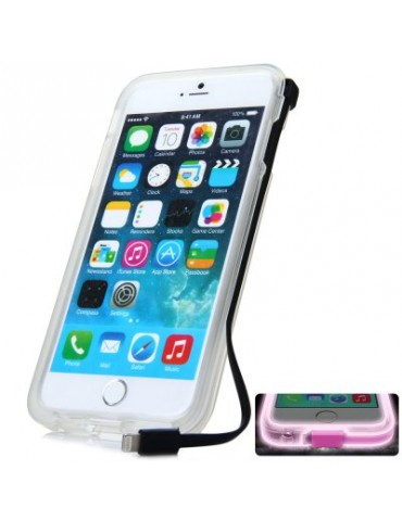 8 Pin USB Charger Cable Back Cover Case for iPhone 6 Plus - 5.5 inches