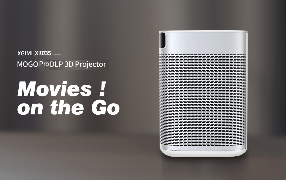 XGIMI XK03S MoGo Pro DLP 3D Home Entertainment Theater Projector 1920 X 1080P / Support 2K / 4K / 300Ansi Lumens / Android 9.0 / 2 + 16GB / Dual-band 2.4 / 5GHz - White 1920 x 1080P